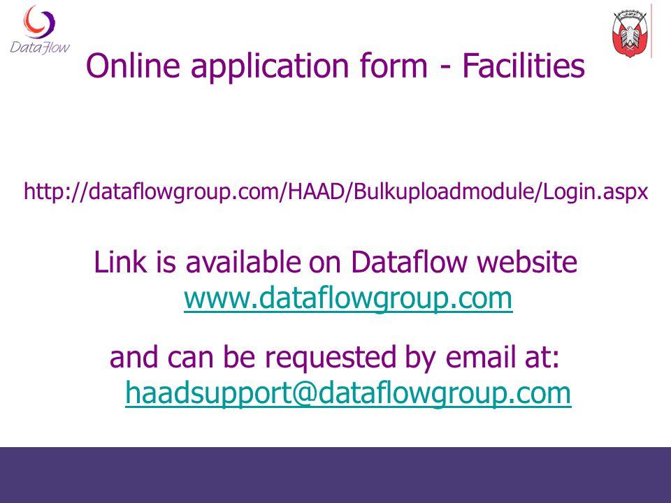 http://dataflowgroup.com/HAAD/Bulkuploadmodule/Login.aspx Link is available on Dataflow website www.dataflowgroup.com www.dataflowgroup.com and can be
