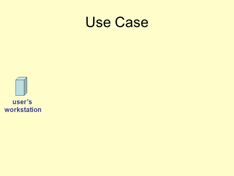 user's workstation Use Case