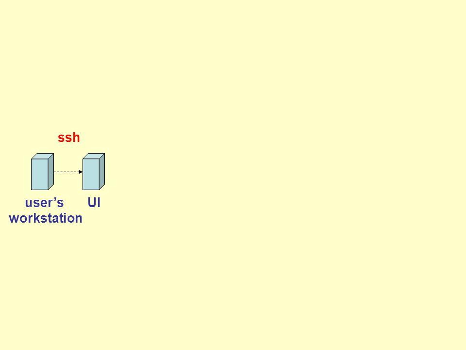 UI ssh user's workstation