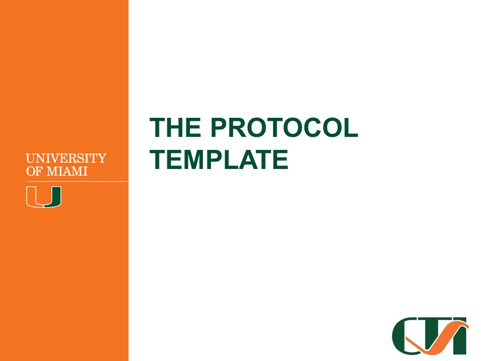 THE PROTOCOL TEMPLATE