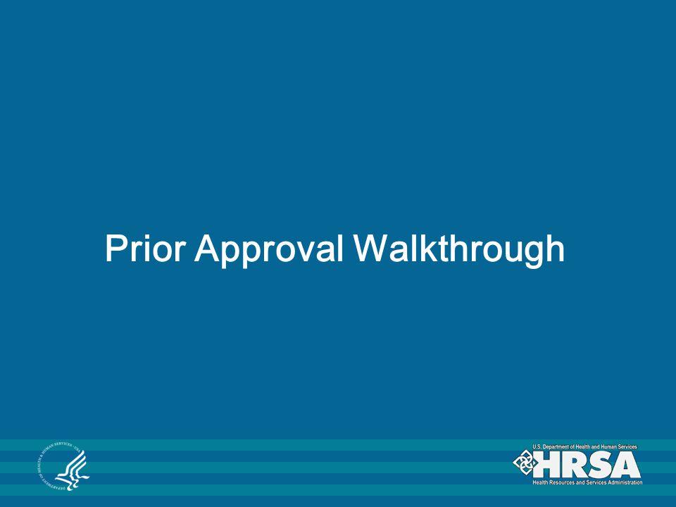 Prior Approval Walkthrough
