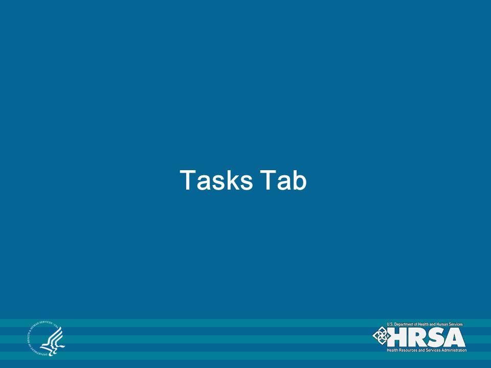 Tasks Tab