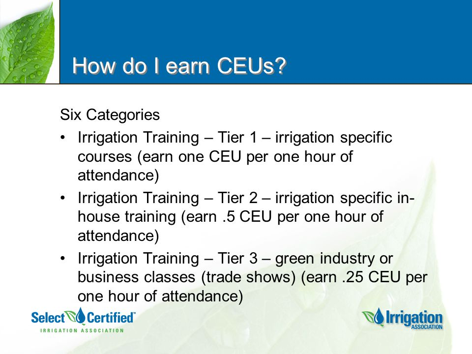 How do I earn CEUs.
