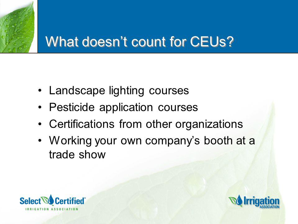 How do I submit CEUs.
