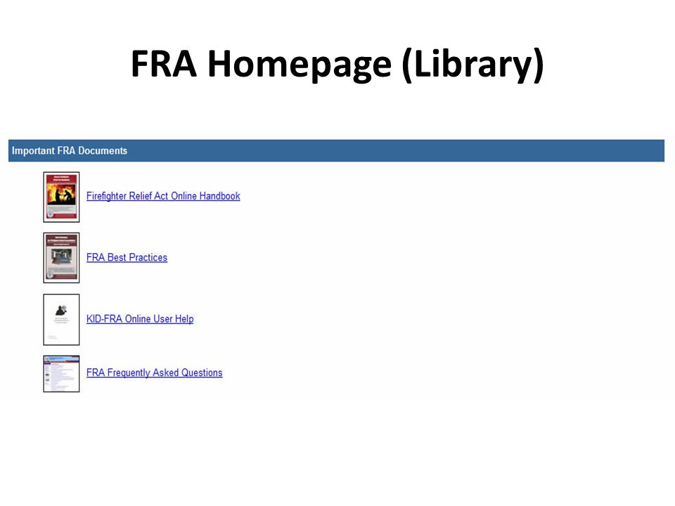 Quick Guide to KID-FRA Online Where do I go to work on an annual financial statement.