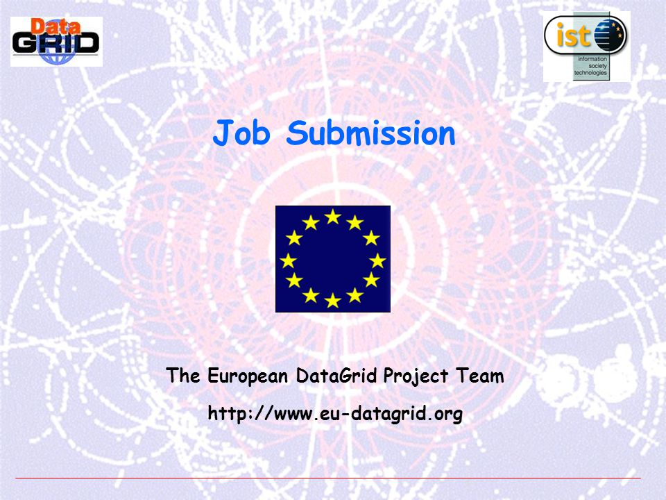EDG Job Submission Tutorial - n° 22 [ reale@testbed006] dg-job-get-output \ https://testbed011.cern.ch:7846/137.138.181.253/23302845526471?testbed011.cern.ch:7771 **************************************************************************************************** JOB GET OUTPUT OUTCOME Output sandbox files for the job: https://testbed011.cern.ch:7846/137.138.181.253/23302845526471?testbed011.cern.ch:7771 have been successfully retrieved and stored in the directory: /tmp/23302845526471 ***************************************************************************************** [reale@testbed006 ] cd /tmp/23302845526471 reale@testbed006 /tmp/23302845526471 ] less Message.txt Hello World .