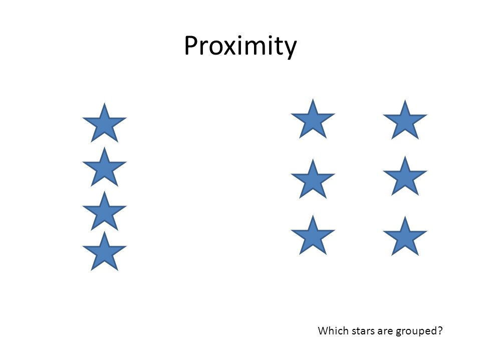 Proximity Which stars are grouped?