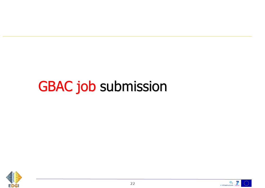 GBAC job submission 22