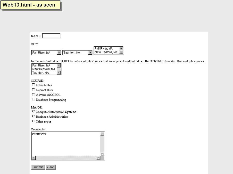 Web13.html - as seen