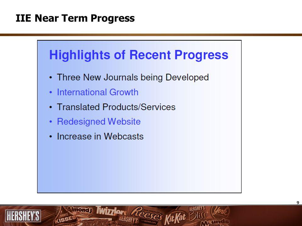 9 IIE Near Term Progress
