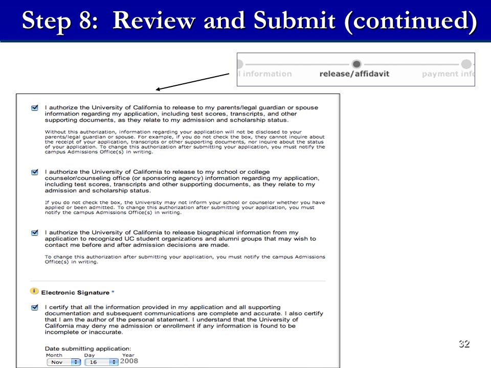 32 Step 8: Review and Submit (continued)