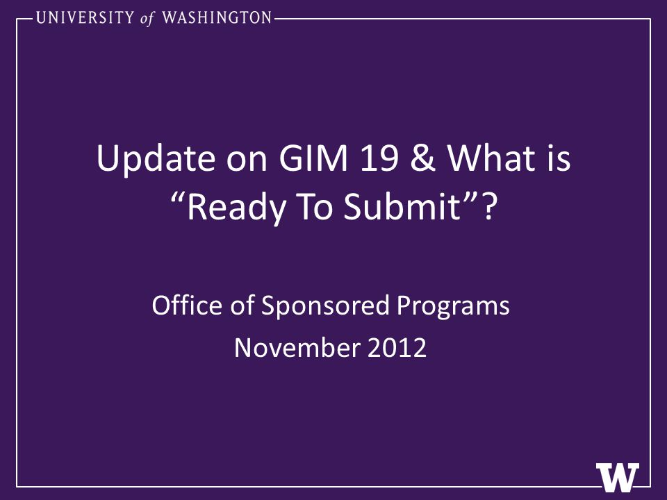 Preparation Submission The PI, Department and OSP are in a partnership together to prepare and submit proposals to external sponsors.