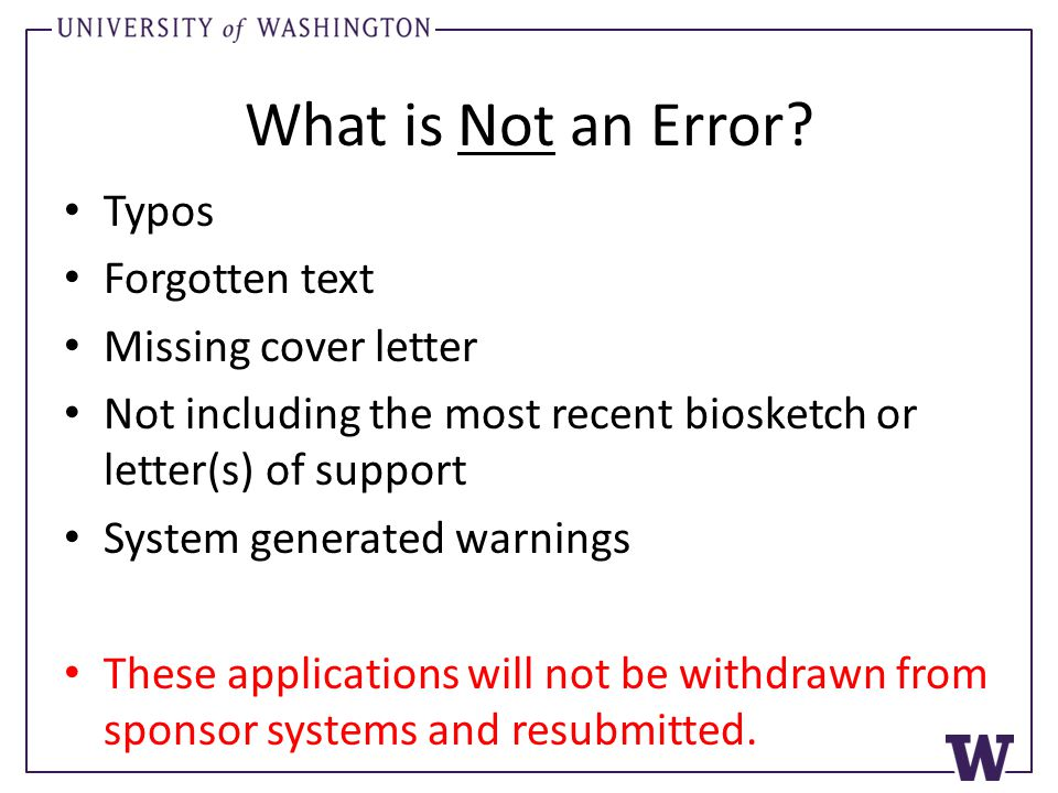 What is Not an Error.