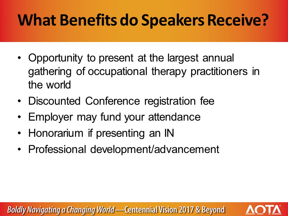 What Benefits do Speakers Receive.