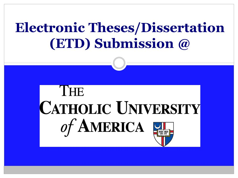 Electronic Theses/Dissertation (ETD) Submission @