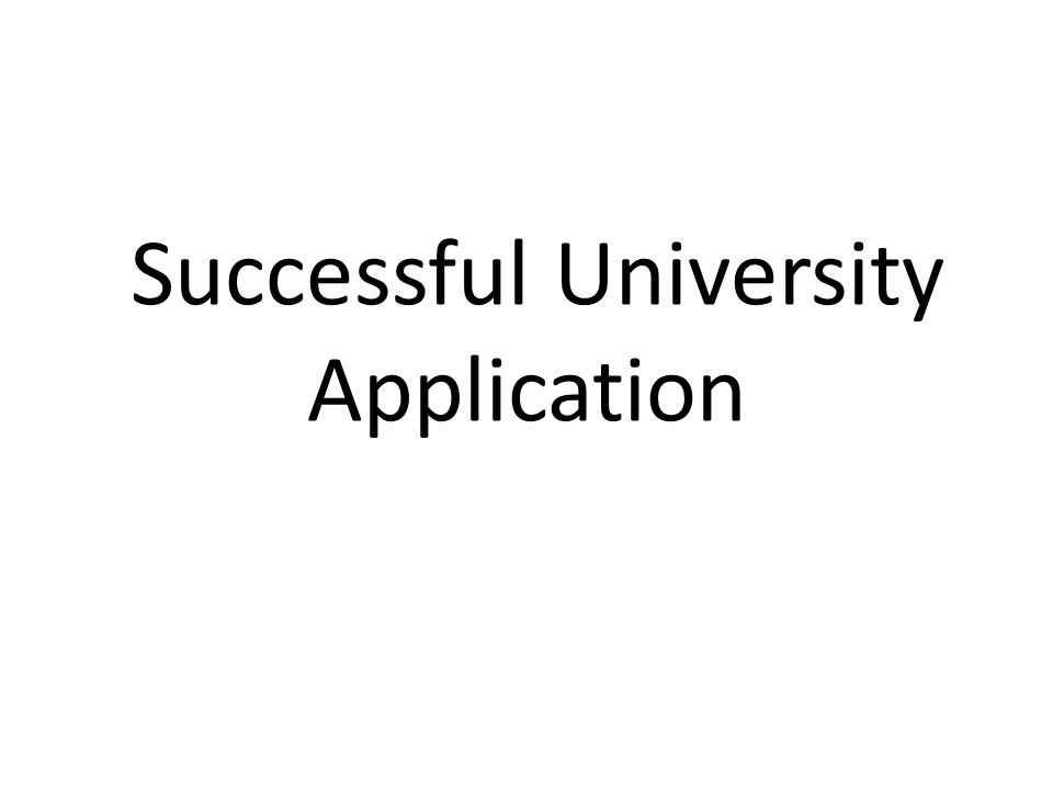 Successful University Application