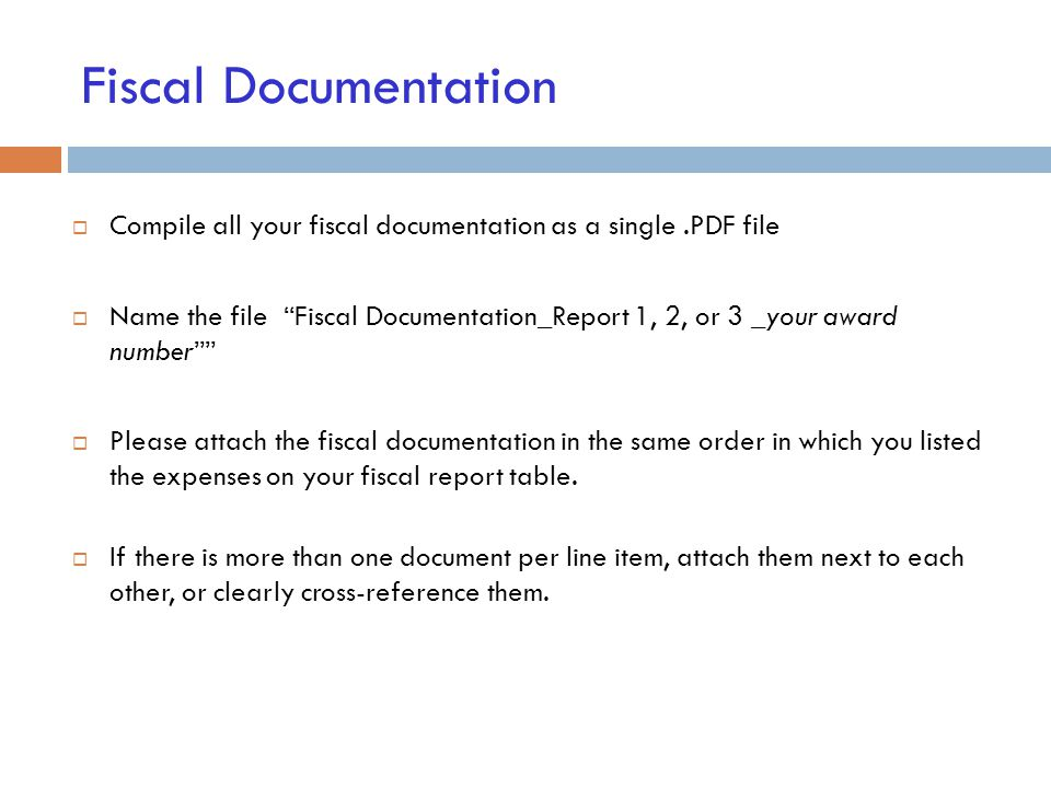Grant Report Form Fiscal Documentation How To Submit Your Grant