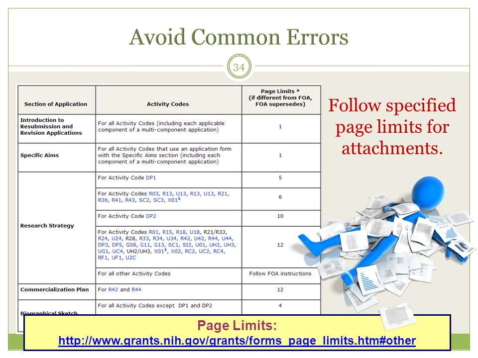 Follow specified page limits for attachments.