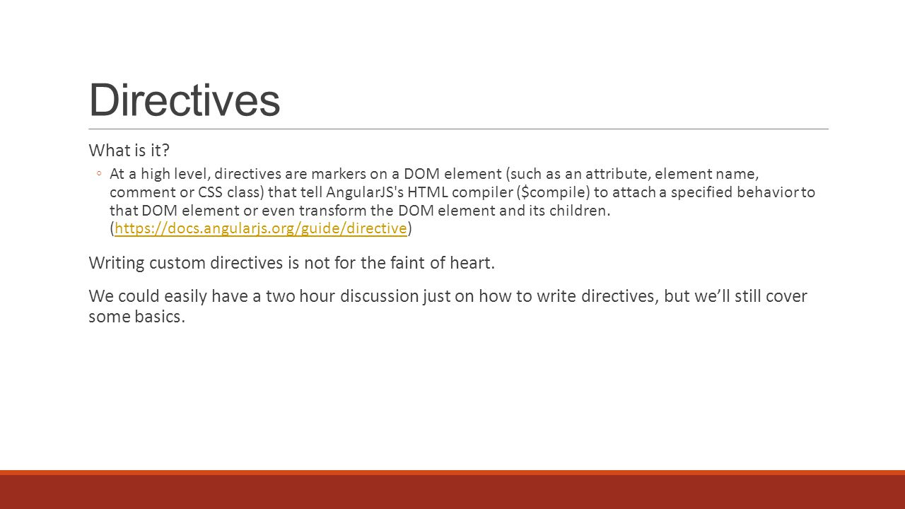 Directives What is it.