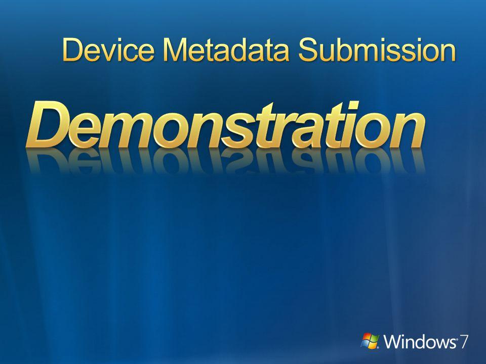 Set the device metadata category in the Logo Verification Report (Windows 7 logos)