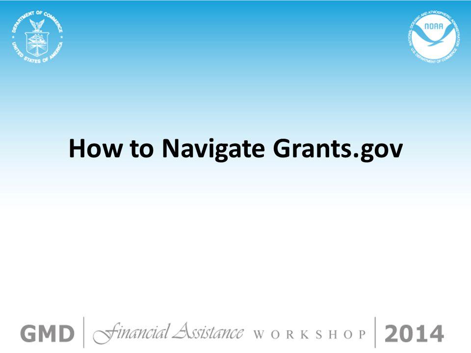 How to Navigate Grants.gov