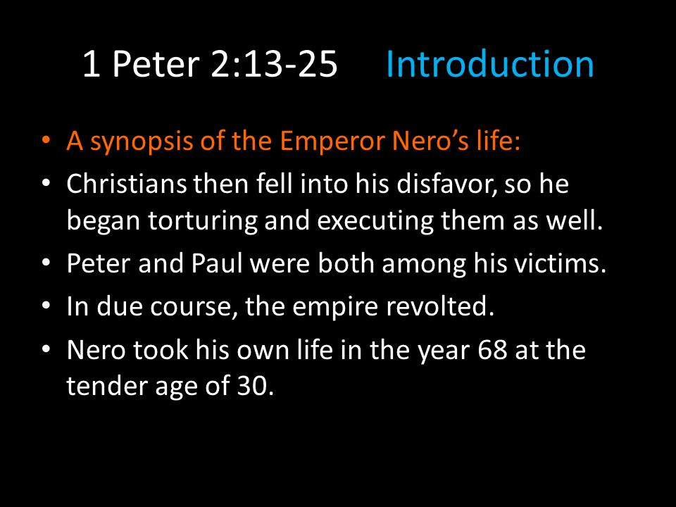 Look to the Example of Christ 2:21-25 2:21Peter is not trying to convince us that unjust suffering is a good thing in itself.