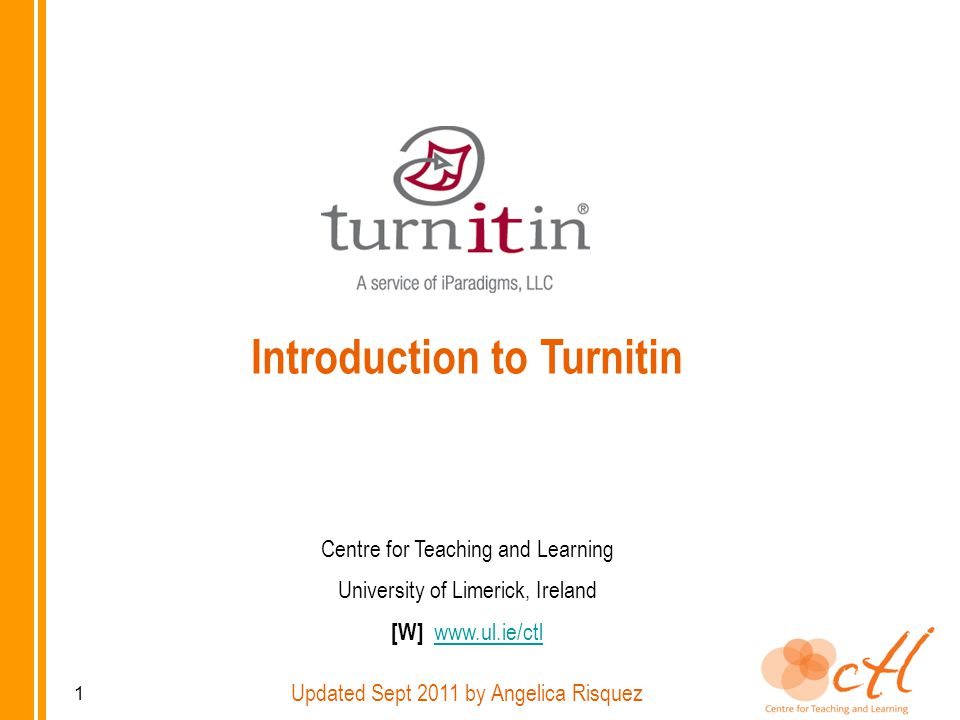 Overview Types of assignments and originality check Case scenarios and teaching advice Using Turnitin with Sulis Using Turnitin on its own Originality report Grademark Peermark 2