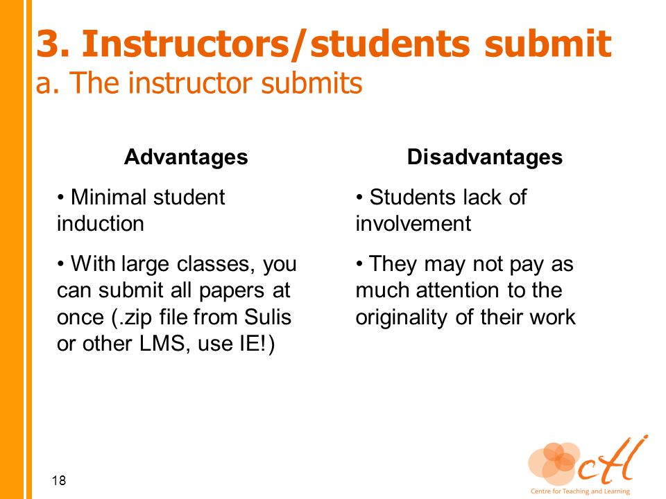 3. Instructors/students submit a.