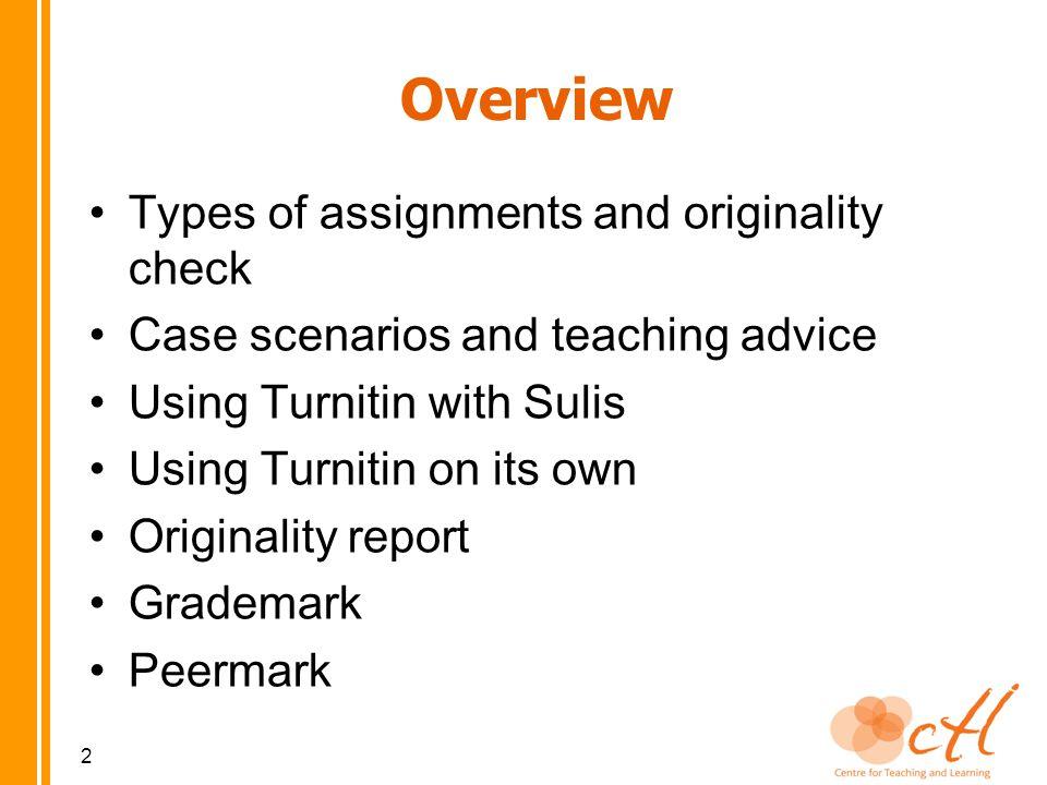 Turnitin Overview www.turnitin.com 3