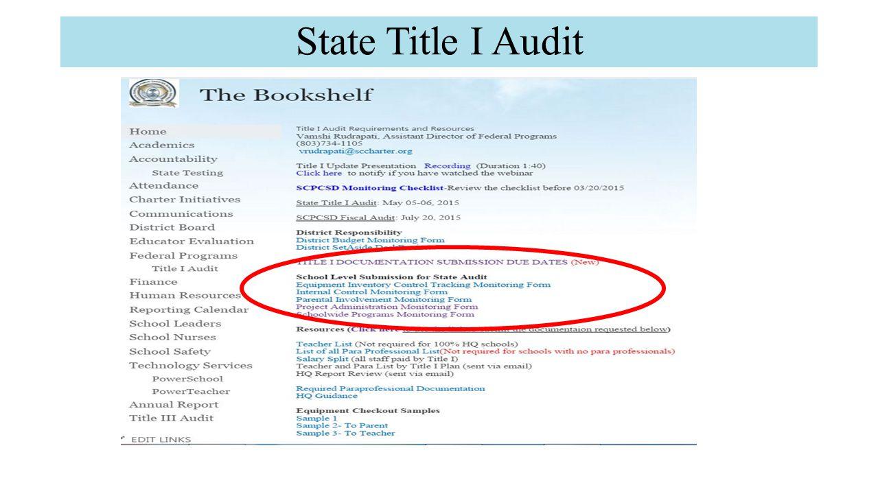 State Title I Audit
