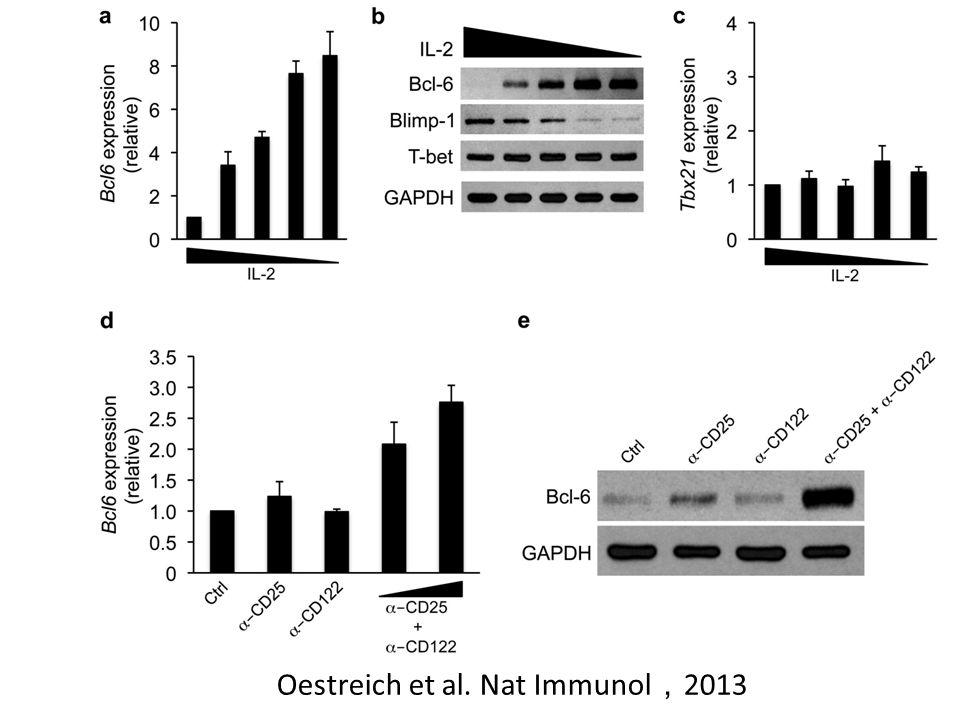 Oestreich et al. Nat Immunol , 2013