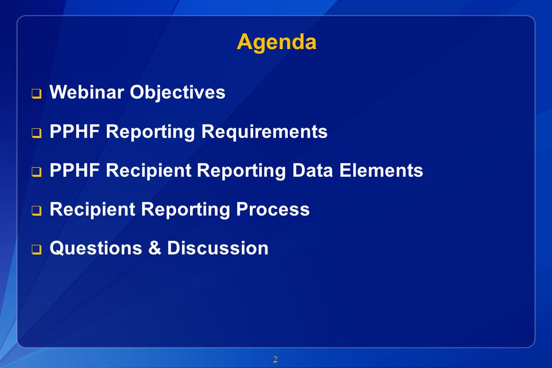 CDC will review recipient reports and identify errors  CDC will begin data quality review as soon as reports are received  If errors are identified, the CDC program point of contact will work with recipients to correct and resubmit reports  Recipients must be prepared to respond quickly to program requests for corrections CDC Distributes Reports Recipients Submit Reports CDC Reviews Reports CDC Submits Final Reports 13 January 20 th – 25 th CDC will gather and review recipient reports Reporting Error.