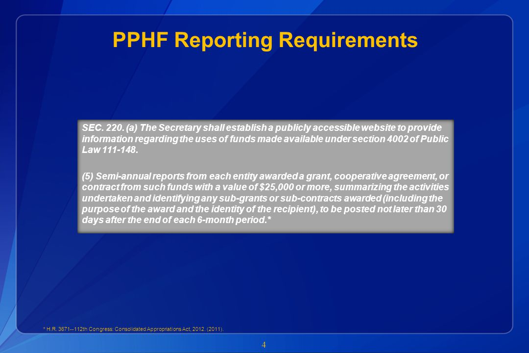 Summary 15  CDC will distribute prepopulated reports to PPHF recipients between December 17 th and 31 st  Recipients should only complete the unlocked data fields in the reports  Recipients must not alter their final reports document file name  All PPHF recipient reports must be finalized and submitted to pphfsio@cdc.gov by January 15 th and no later than January 20 thpphfsio@cdc.gov  Non-compliant recipients – recipients that do not submit a report by January 20 th – will be in violation of the terms and conditions of their award  If CDC identifies errors within the PPHF report, the CDC programs will work with recipients to correct and resubmit reports  Recipients must be prepared to respond quickly to programs requests for corrections  All recipient reports will be posted on HHS.gov/Open website by January 30 th (http://www.hhs.gov/open/recordsandreports/prevention/index.html)http://www.hhs.gov/open/recordsandreports/prevention/index.html