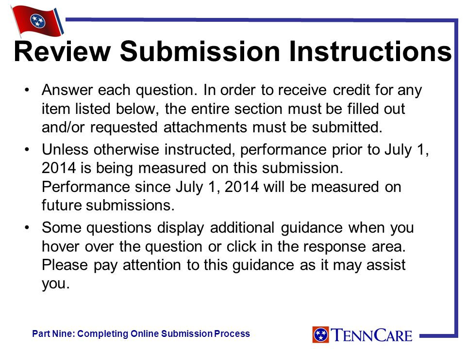 Review Submission Instructions Answer each question.