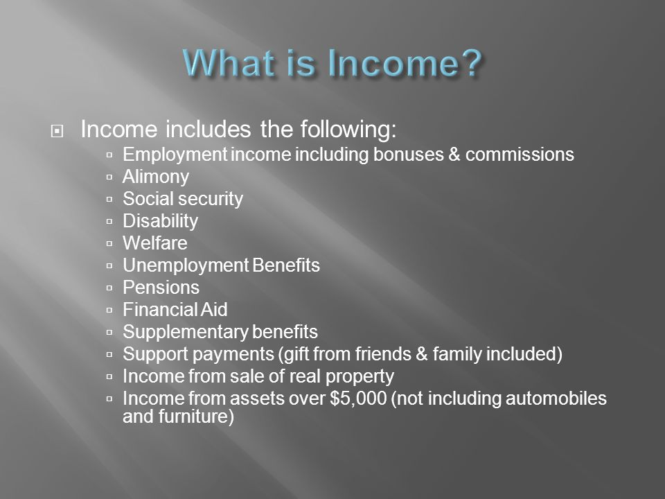  Collect income declarations from households members over 18 years of age.