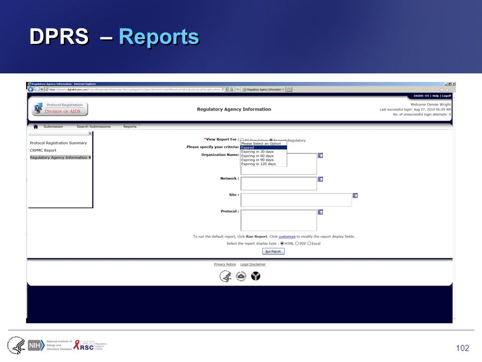 DPRS – Reports 102