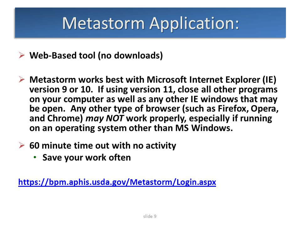 slide 30 Metastorm – Locating Draft Suggestion  Log in to Metastorm  Click on To Do List icon  Click on the row for Draft Suggestion Note a unique suggestion number is assigned (e.g., PPQ FB Sugg-2015-xxxx)