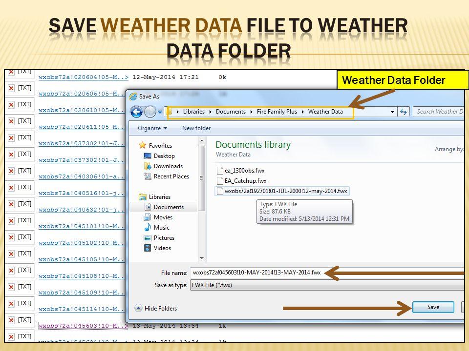Weather Data Folder