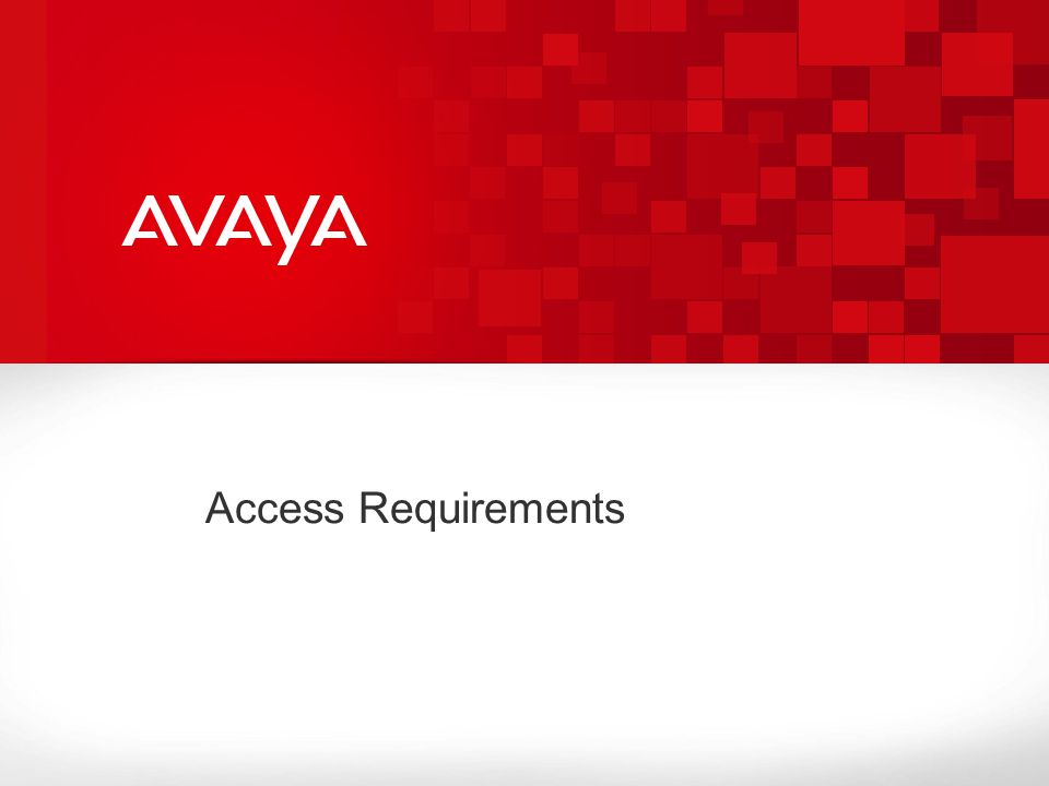 Access Requirements
