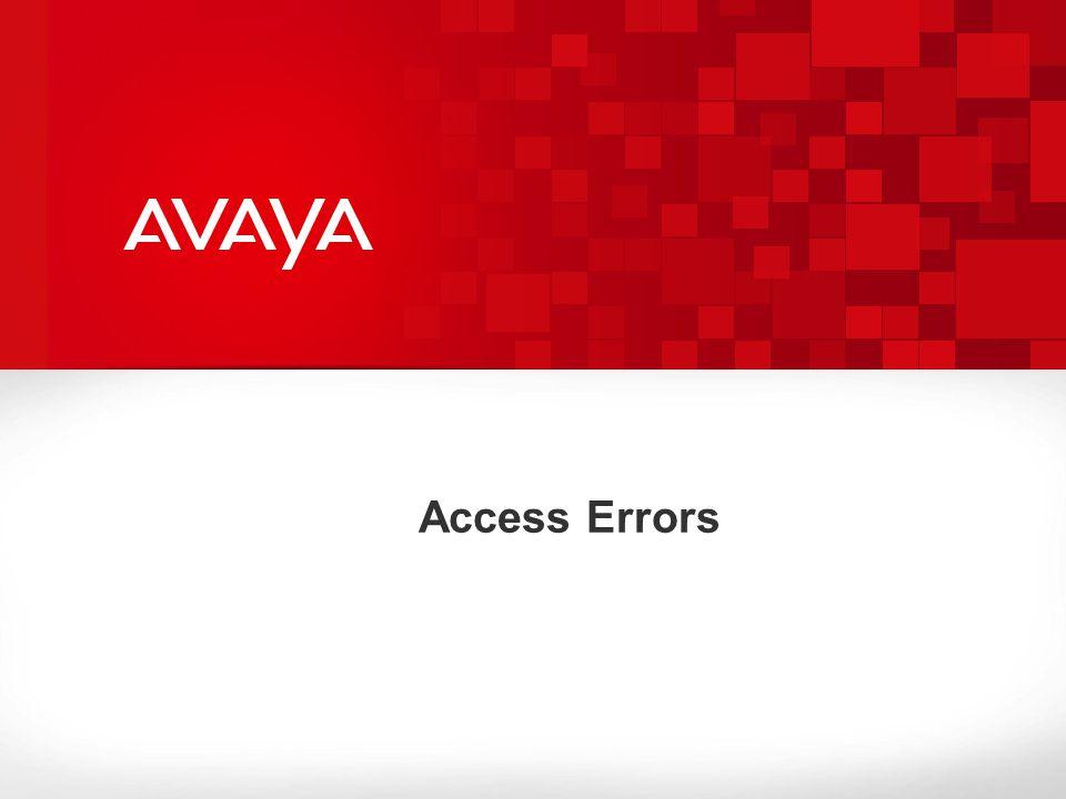 Access Errors
