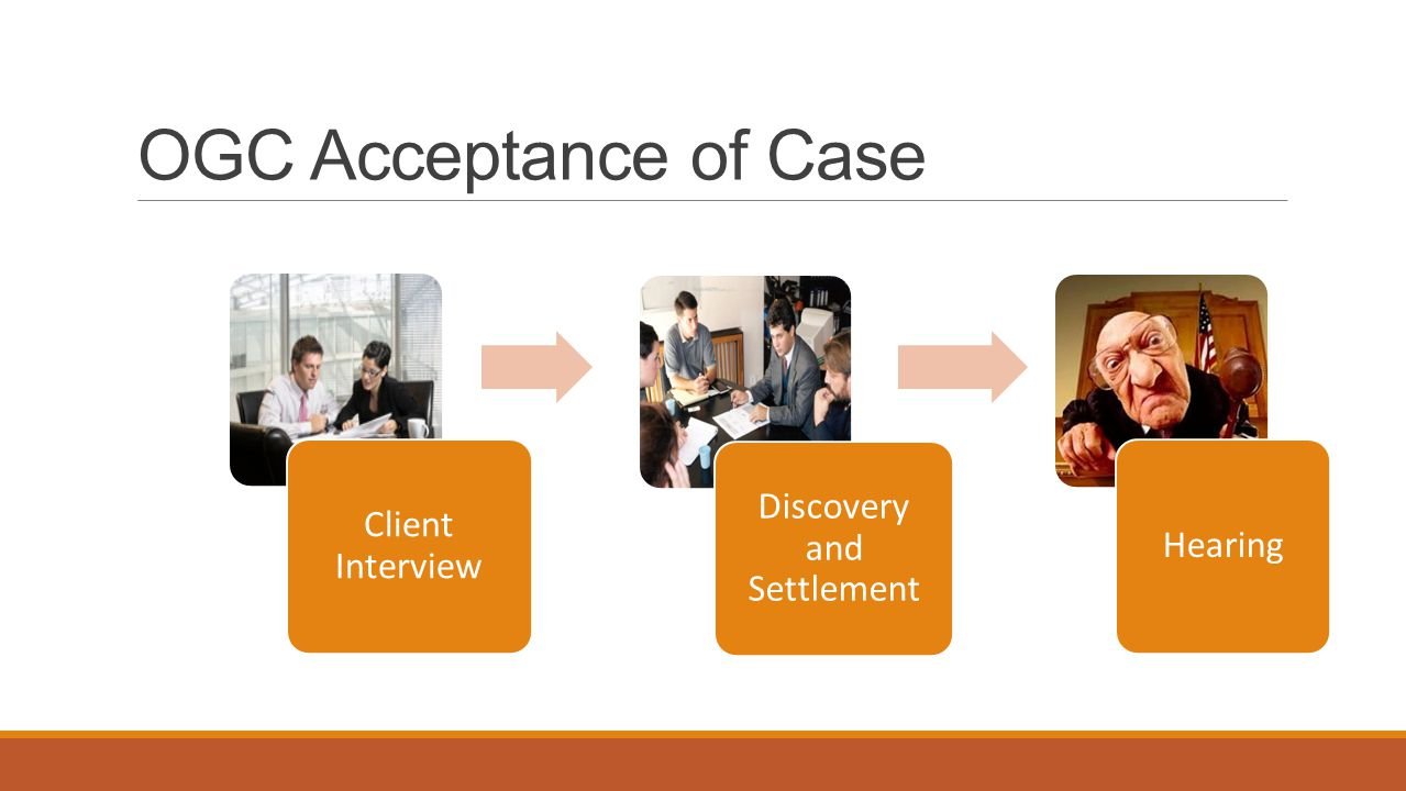 OGC Acceptance of Case Client Interview Discovery and Settlement Hearing