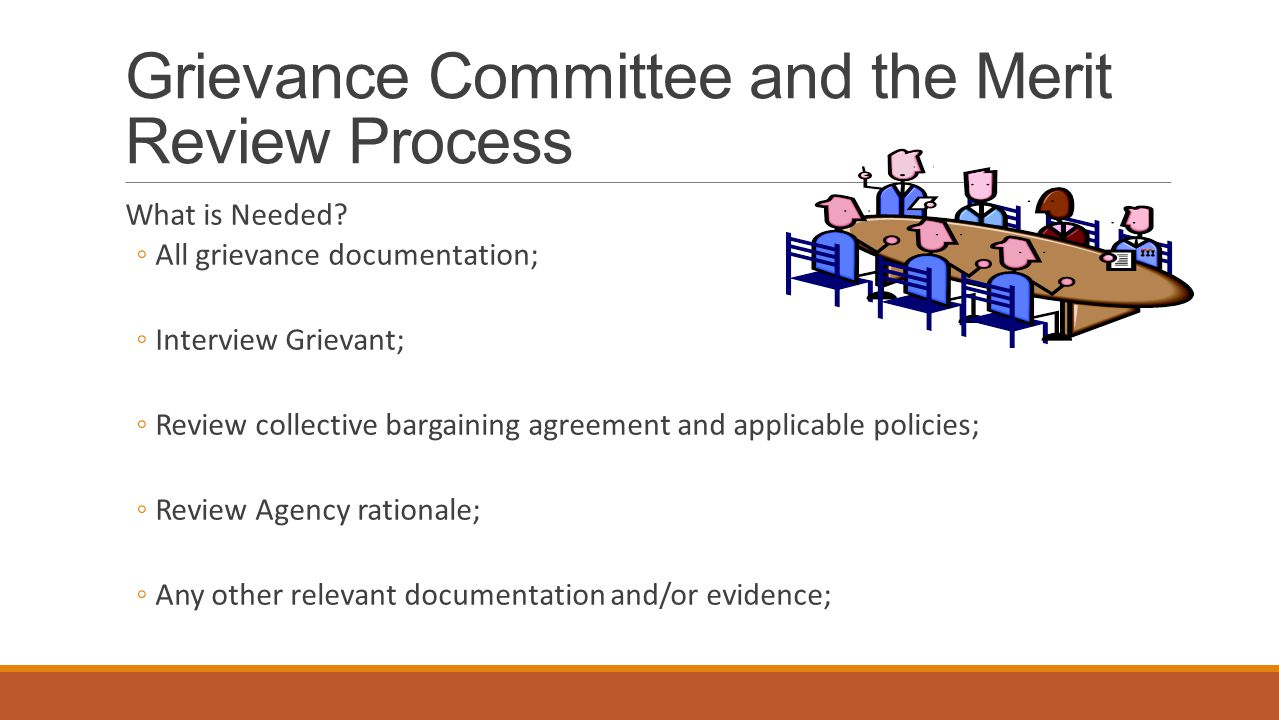 Grievance Committee and the Merit Review Process What is Needed.