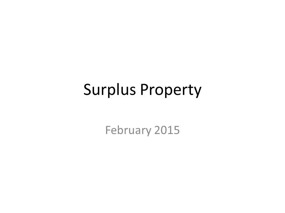 Surplus Property February 2015