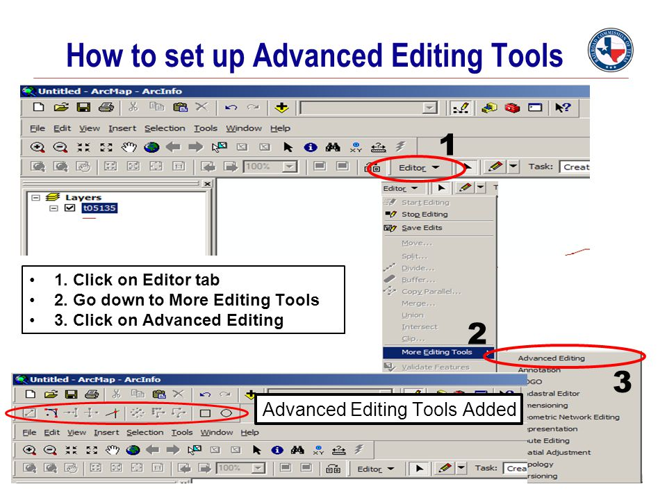 How to set up Advanced Editing Tools 1. Click on Editor tab 2. Go down to More Editing Tools 3. Click on Advanced Editing Advanced Editing Tools Added