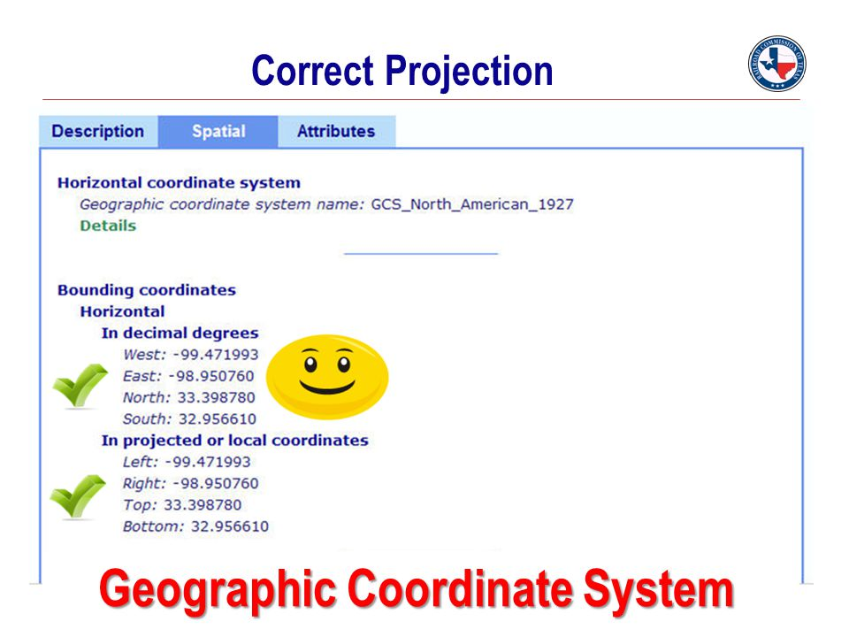 Correct Projection Geographic Coordinate System