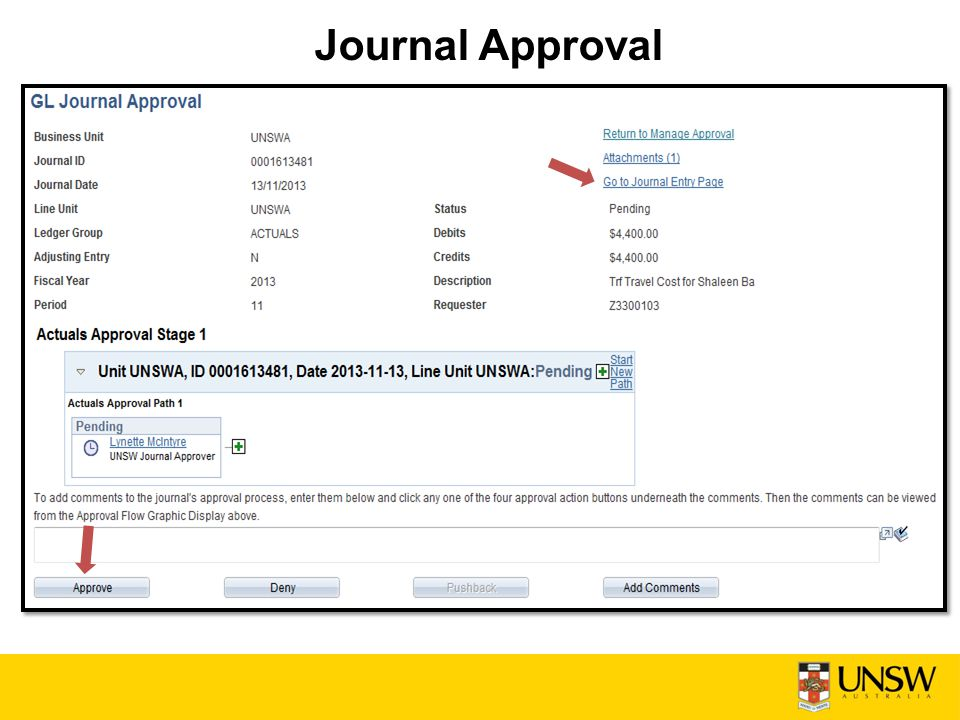 Journal Approval