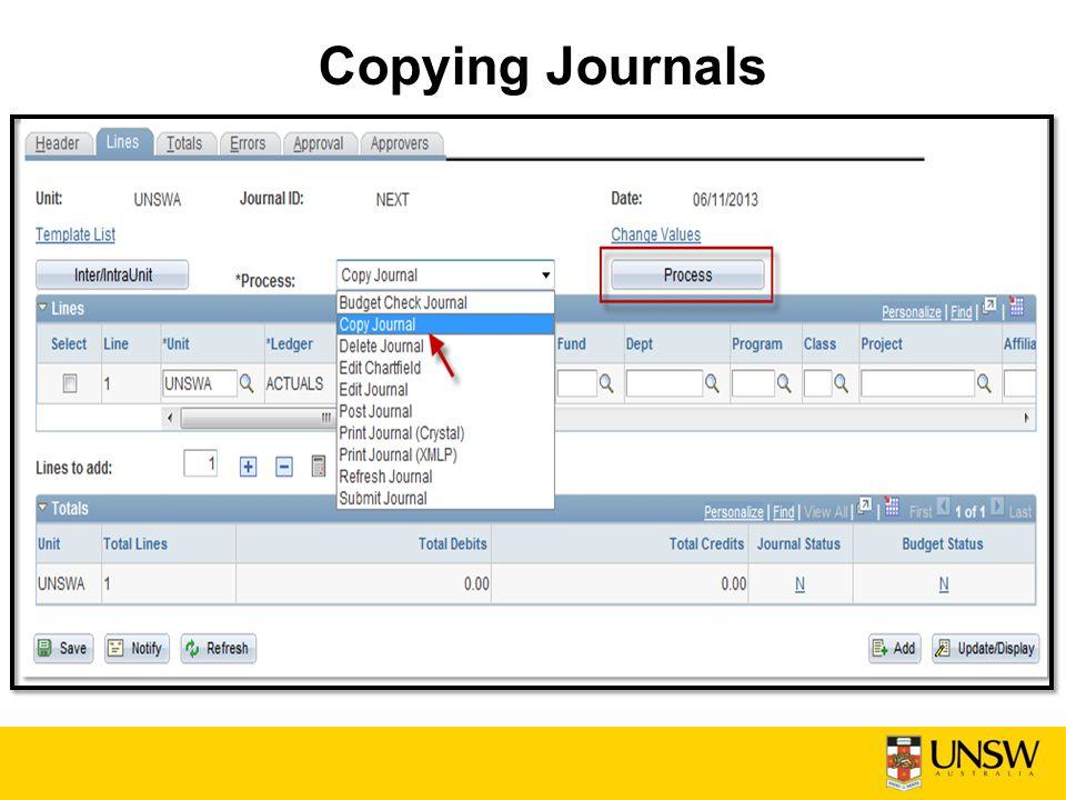 Copying Journals