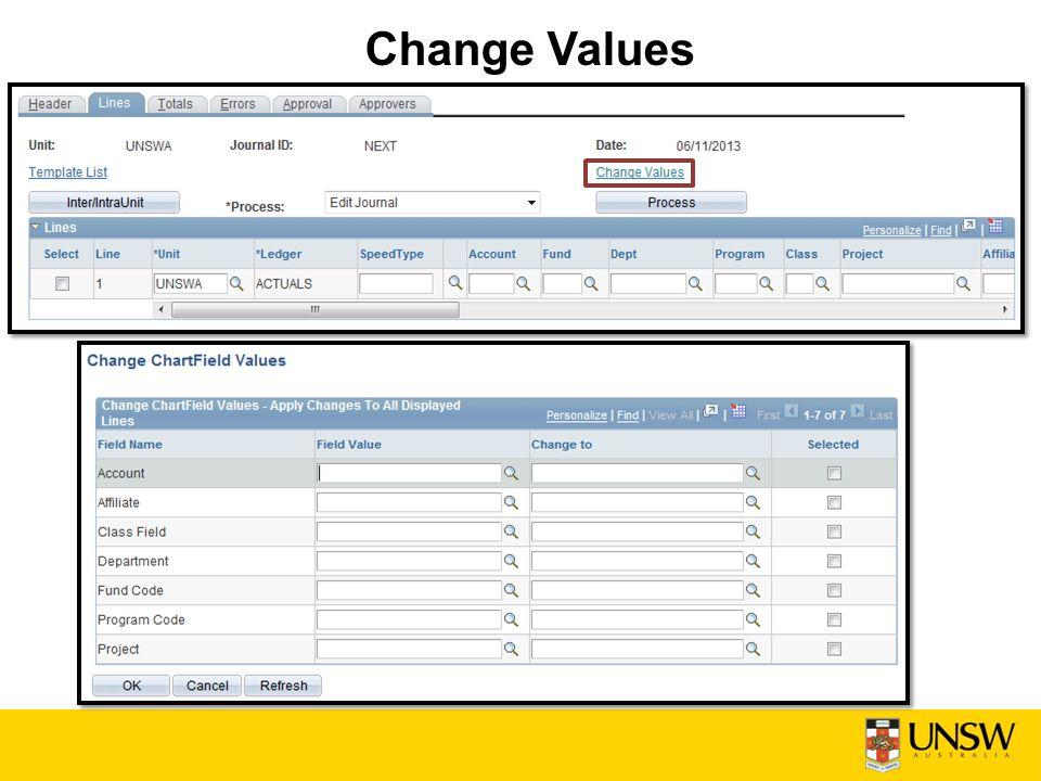 Change Values