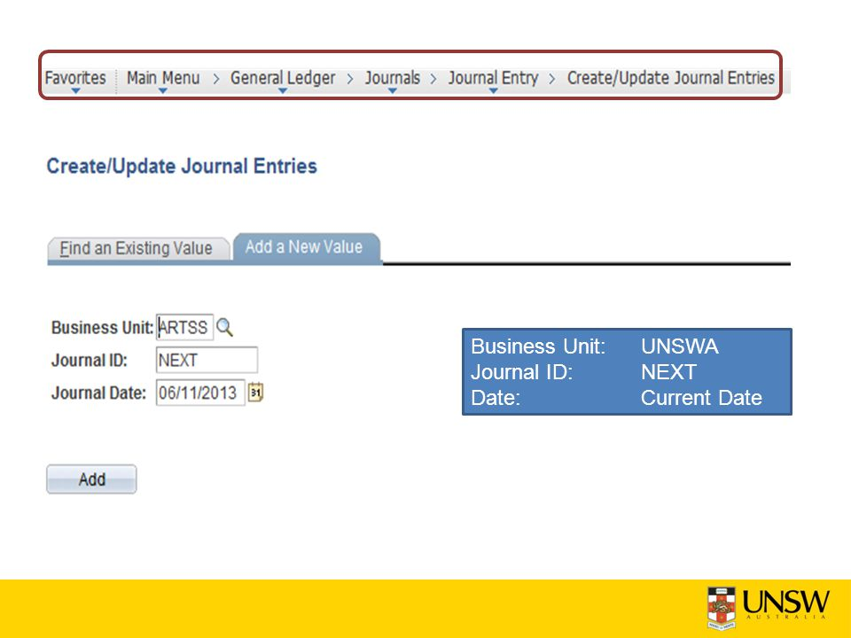 Business Unit: UNSWA Journal ID: NEXT Date: Current Date