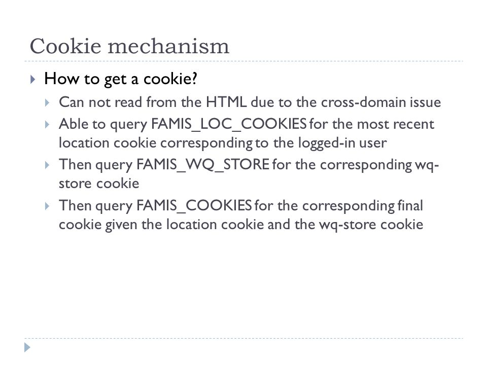 Cookie mechanism  How to get a cookie.